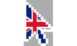 stickers /  autocollants curseur flèche anglaise