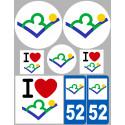 stickers autocollants departement de la Haute Marne