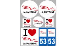 stickers / autocollant département de la Mayenne