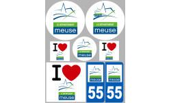 stickers / autocollant département de la Meuse