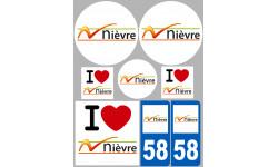 stickers / autocollant département de la Nièvre