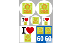 stickers / autocollant département de l'Oise