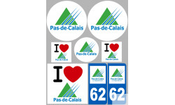 stickers / autocollant département du Pas de calais