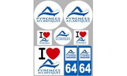 stickers / autocollant département des Pyrénees Atlantiques