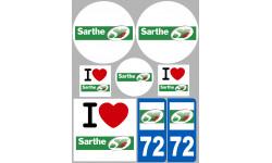 Autocollants : stickers autocollant departement de la Sarthe