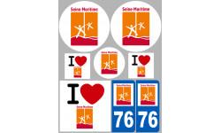 stickers / autocollant département de la Seine Maritime