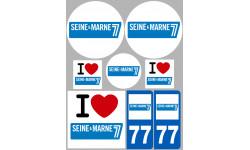 stickers / autocollant département de la Seine et Marne