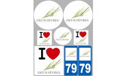 stickers / autocollant département des Deux-Sèvres
