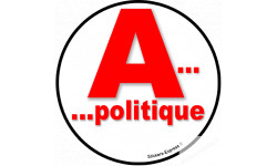 stickers / autocollant Apolitique