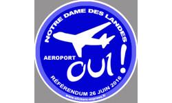 Oui au referendum pour l'aeroport de Notre Dame des Landes