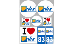 stickers / autocollant département du Var