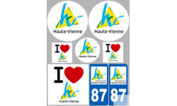 stickers / autocollant département de La Haute Vienne