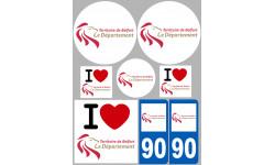 stickers / autocollant département du territoire de belfort