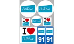 stickers / autocollant département de l'Essonne