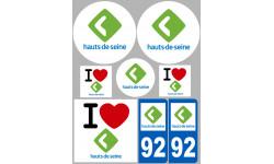 stickers / autocollant département des Hauts de Seine