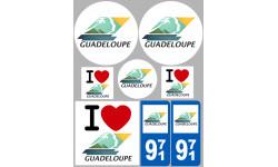 stickers / autocollant département de la Guadeloupe