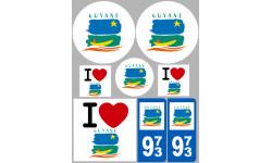 stickers / autocollant département de la Guyane