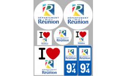 stickers / autocollant département de la Réunion