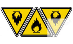 Stickers  / Autocollants inflammable 2