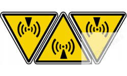 Stickers  / Autocollants radiations non ionisantes