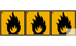 Stickers  / Autocollant série facilement inflammable 2