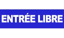 """Sticker / Autocollant pour sol """"entrée libre"""""""