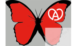 "stickers autocollants ""effet papillon Alsace rouge"""