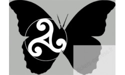 """stickers autocollants """"effet papillon Celte"""""""