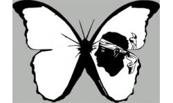 """stickers autocollants """"effet papillon Corse"""""""