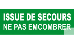 stickers issue de secours