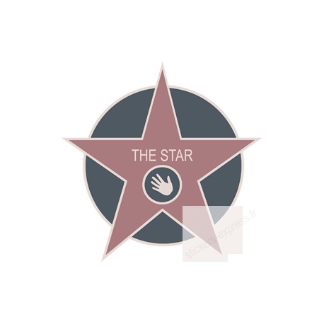 """Stickers / autocollants """"THE STAR"""""""