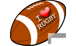 stickers et autocollants I love rugby