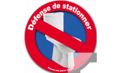 Interdiction de stationner au WC