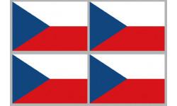 Stickers / autocollants drapeau République Tchèque