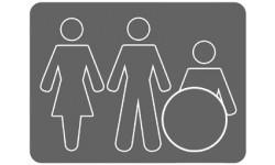 sticker autocollant WC, toilette pour tous