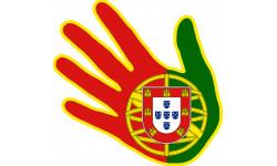 main Portugaise drapeau