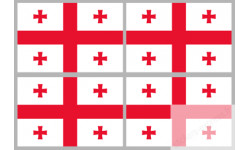 Stickers / autocollants drapeau Géorgie