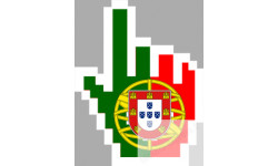 stickers /  autocollants curseur main Portugaise