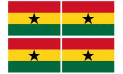 Stickers / autocollants drapeau Ghana