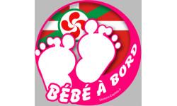 bébé à bord basque fille
