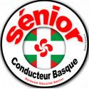 Autocollants : Sticker autocollant Conducteur Sénior Basque