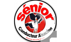 Autocollants : Sticker autocollant conducteur Sénior Alsacien