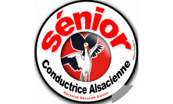 Autocollants : Sticker autocollant conductrice Sénior Alsacienne
