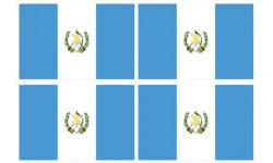 Stickers / autocollants drapeau Guatemala