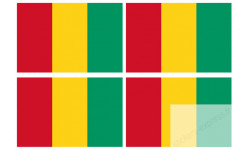 Stickers / autocollants drapeau Guinée