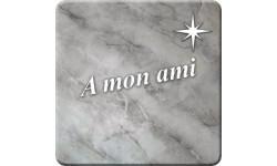 Sticker à mon ami (marbre gris)