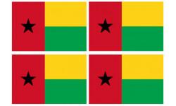 Stickers / autocollants drapeau Guinée-Bissau