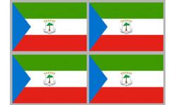 Stickers / autocollants drapeau Guinée-équatoriale