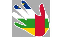 drapeau Republique Centrafrique main