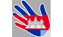 drapeau Cambodge main